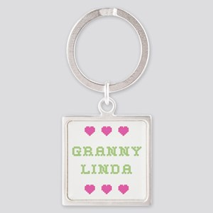 Granny Linda Square Keychain