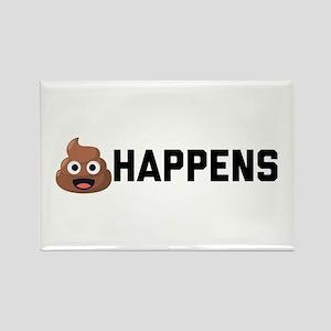 Emoji Poop Happens Rectangle Magnet