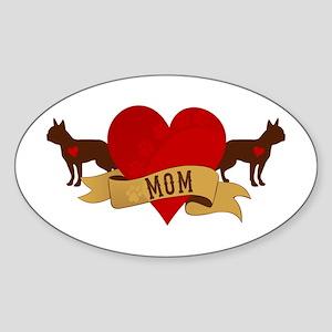 Boston Terrier Mom Sticker (Oval)