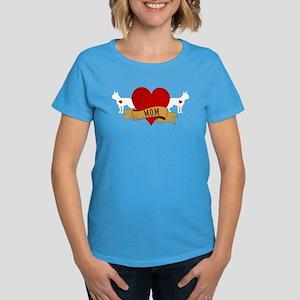 Boston Terrier Mom Women's Dark T-Shirt