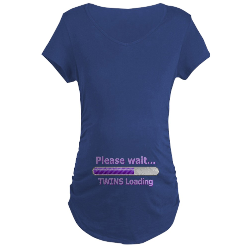 c1955ae05c760 CafePress Baby TWINS Loading! Maternity T Shirt Maternity Shirt ...