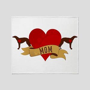 Borzoi Mom Throw Blanket