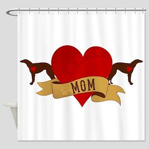 Borzoi Mom Shower Curtain