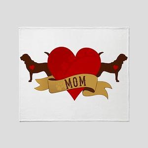 Bloodhound Mom Throw Blanket