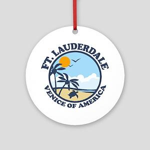 Fort Lauderdale - Beach Design. Ornament (Round)