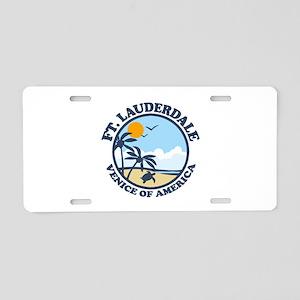 Fort Lauderdale - Beach Design. Aluminum License P