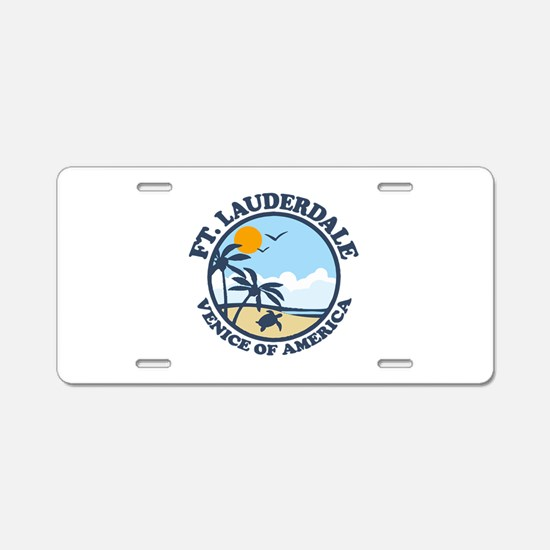 Fort Lauderdale - Beach Design. Aluminum License P