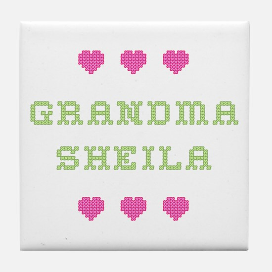 Grandma Sheila Tile Coaster