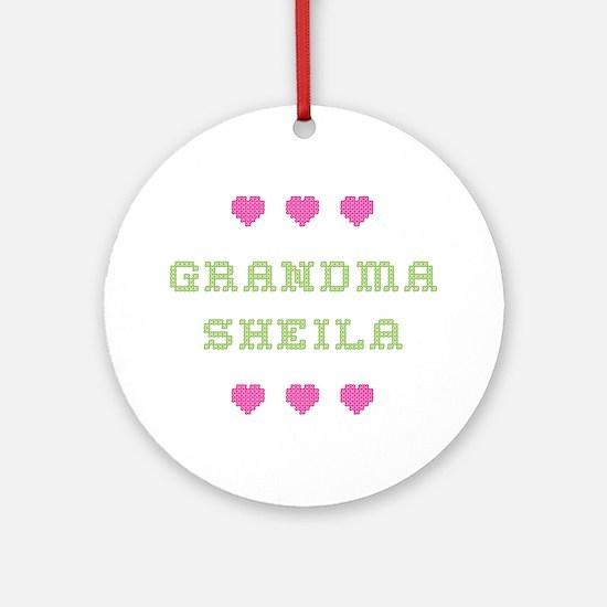 Grandma Sheila Round Ornament