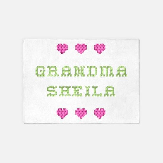 Grandma Sheila 5'x7' Area Rug