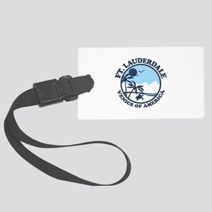 Fort Lauderdale - Beach Design. Large Luggage Tag