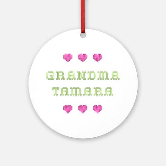 Grandma Tamara Round Ornament
