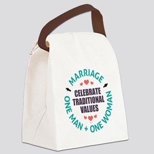 Celebrate Traditional Values Canvas Lunch Bag