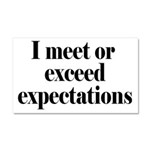 I Meet Or Exceed Expectations Car Magnet 20 x 12