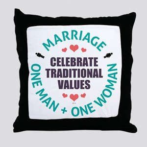 Celebrate Traditional Values Throw Pillow