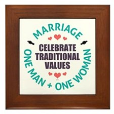 Celebrate Traditional Values Framed Tile