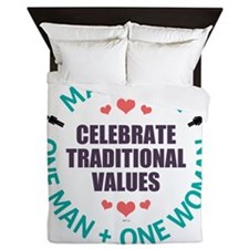 Celebrate Traditional Values Queen Duvet