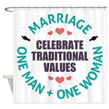 Celebrate Traditional Values Shower Curtain