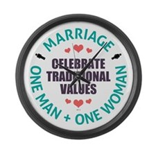 Celebrate Traditional Values Large Wall Clock