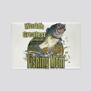 Fishing Mom Rectangle Magnet
