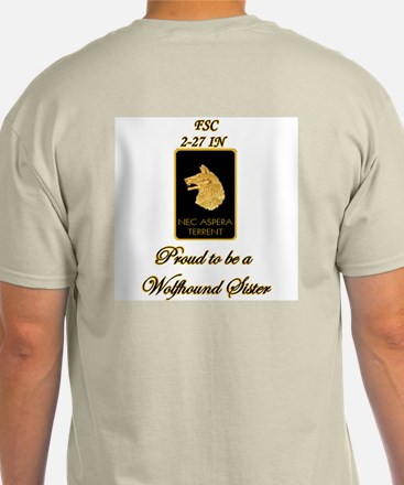 Proud Wolfhound Sister-Sgt Ash Grey T-Shirt