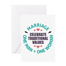 Celebrate Traditional Values Greeting Card
