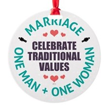 Celebrate Traditional Values Ornament