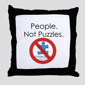 People, Not Puzzles Throw Pillow