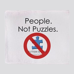 People, Not Puzzles Throw Blanket