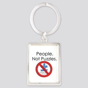 People, Not Puzzles Portrait Keychain