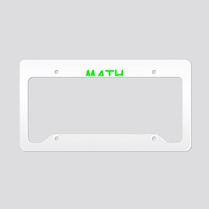 math License Plate Holder