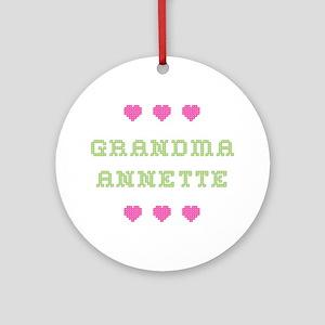 Grandma Annette Round Ornament