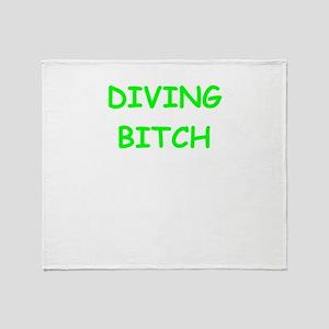 diving Throw Blanket