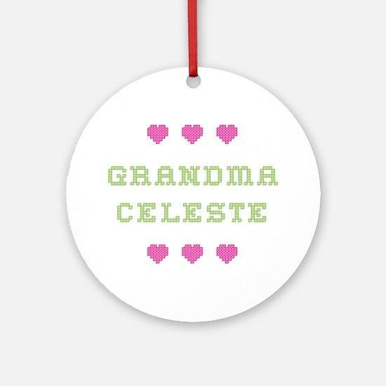 Grandma Celeste Round Ornament