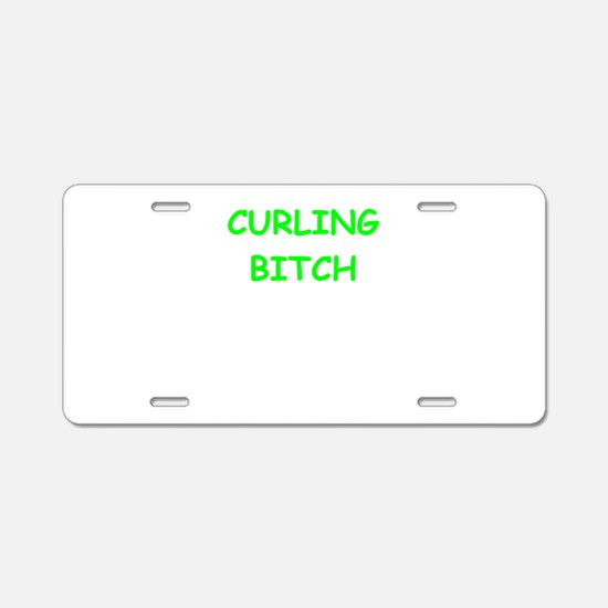 CURLING Aluminum License Plate