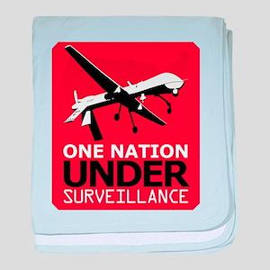 Drone Surveillance Nation baby blanket