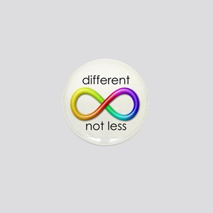 Different. Not Less. Mini Button