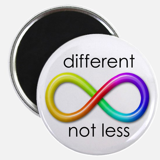 "Different. Not Less. 2.25"" Magnet (10 pack)"