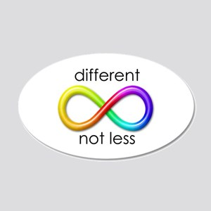 Different. Not Less. 20x12 Oval Wall Decal