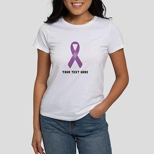 Purple Awareness Rib Women's Classic White T-Shirt