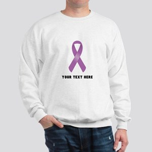 Purple Awareness Ribbon Customized Sweatshirt