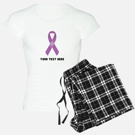 Purple Awareness Ribbon Cus Pajamas