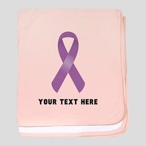 Purple Awareness Ribbon Customized baby blanket