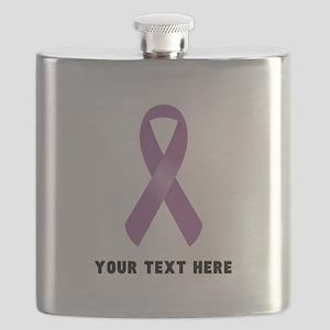 Purple Awareness Ribbon Customized Flask