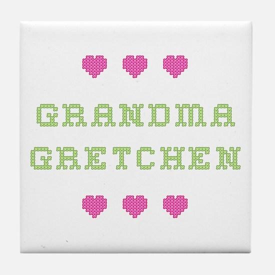 Grandma Gretchen Tile Coaster