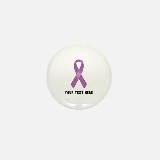 Purple Awareness Ribbon Customized Mini Button
