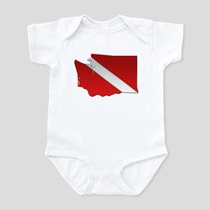 """Washington Diver Flag"" Infant Bodysuit"