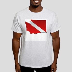 """Washington Diver Flag"" Ash Grey T-Shirt"