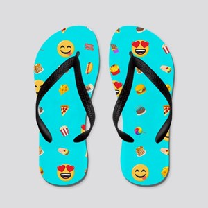 Emoji Food Flip Flops
