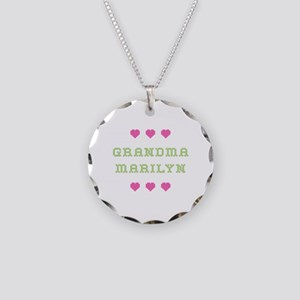 Grandma Marilyn Necklace Circle Charm